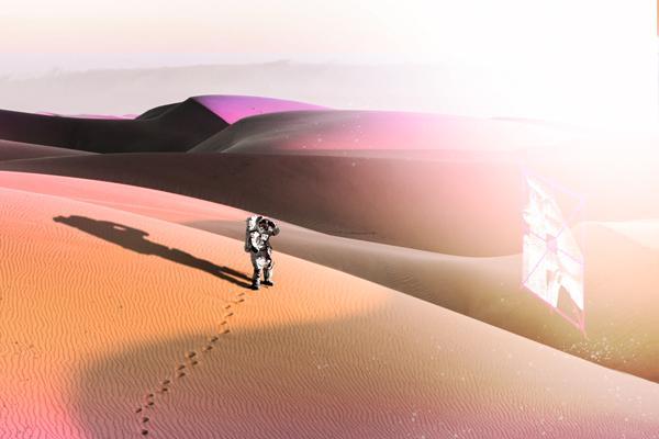 Astronautti aavikolla / Astronault in the desert