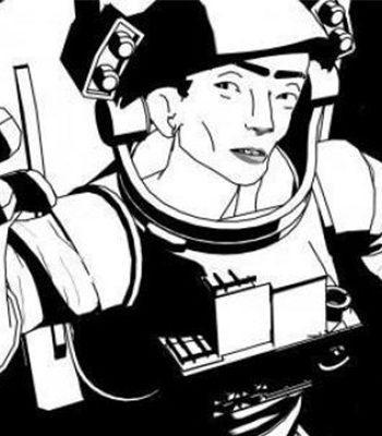 Animoitu astronautti / Animated astronaut