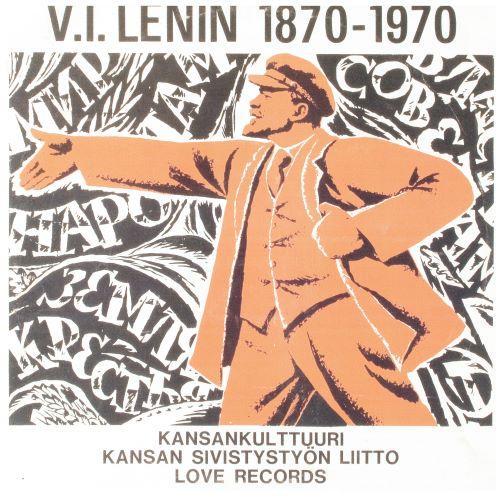 V.I. Lenin levyn kannessa / V.I. Lenin on the cover of the LP record