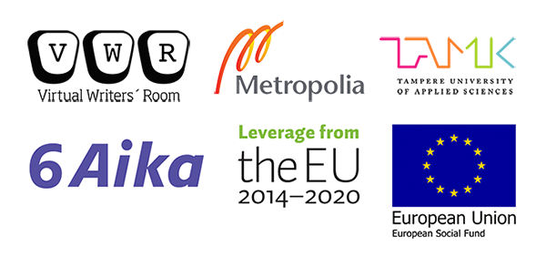 Virtual Writers' Room, Metropolia, TAMK, 6Aika, Leverage from the EU 2014–2020, EU European Social Fund